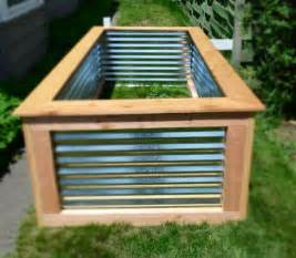 8 best corrugated metal garden beds images on
