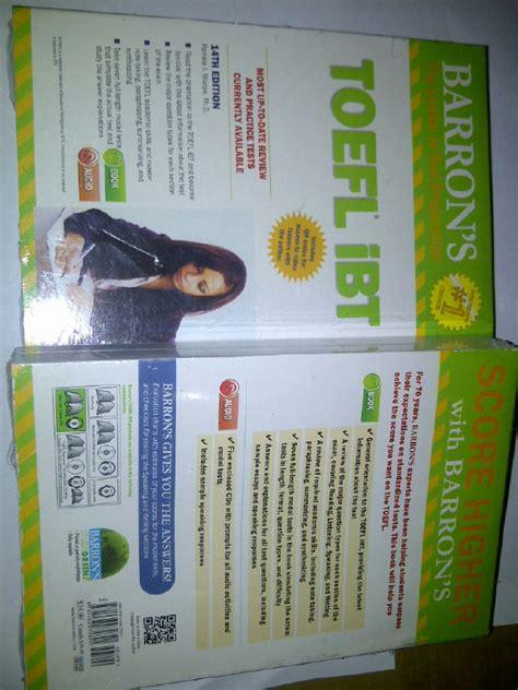 Buku Toefl Ibt jual barrons toefl ibt 14th edition with audio cds toko buku edi