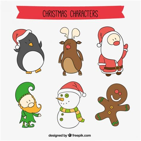 imagenes navidad vectores gratis personajes de dibujos animados de navidad descargar