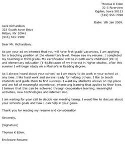 Exle Of Cover Letter For Teaching by Elementary Cover Letter Exles Cover Letter Now
