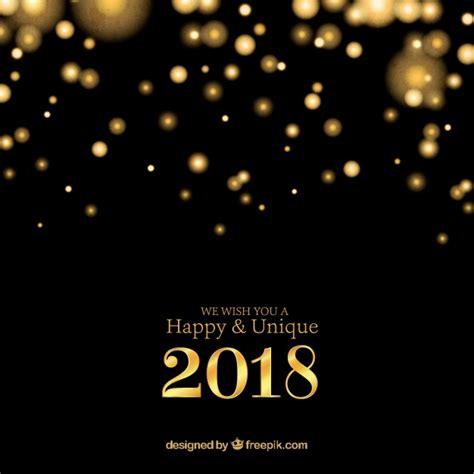 Or Free 2018 Gold And Black New Year 2018 Background Vector Free