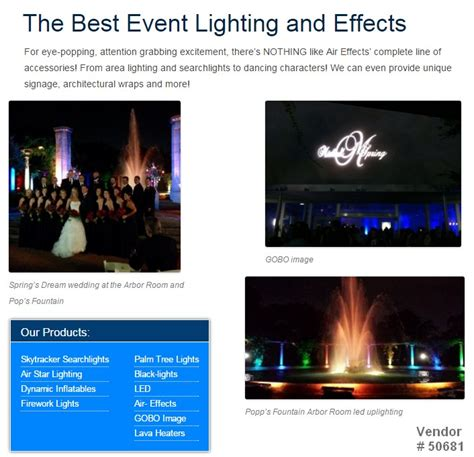 special effects light bulbs searchlight rentals knoxville tennessee hollywood lights