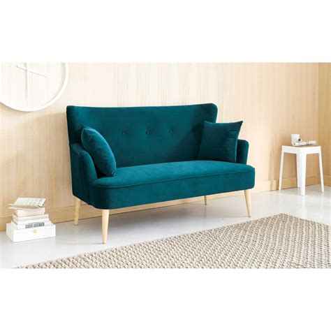 small velvet sofa small stylish sofas for small spaces petrol blue 2