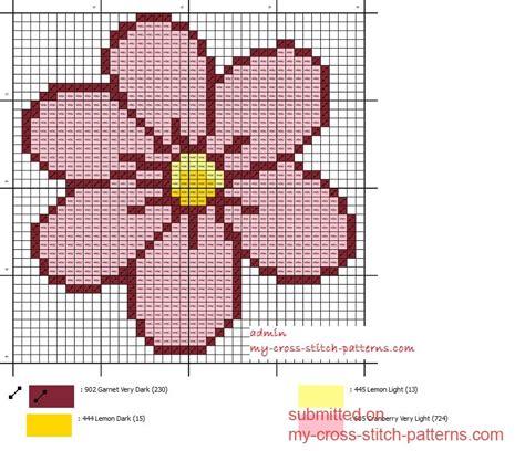 how to cross stitch free cross stitch patterns small and easy pink daisy cross stitch pattern free