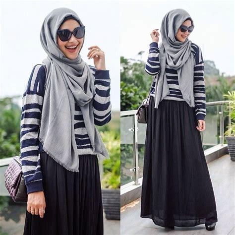 Baju Pakaian Wanita Gamis Maxi Lucia Dress Navy Grosir Murah trend fashion baju muslim dewasa 2016 terbaru istimewa