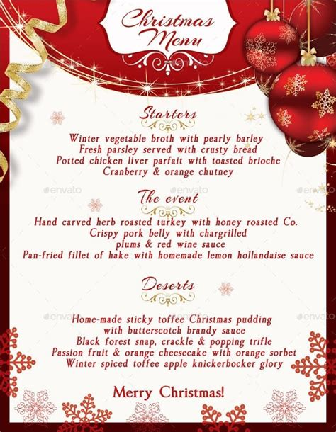 christmas menu template word svoboda2 com