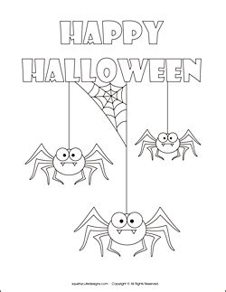 happy spider coloring page gallery for gt halloween coloring spiders