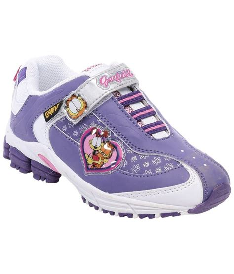 garfield purple white casual shoes for price in