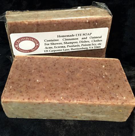 Handmade Lye Soap - lye soap cinnamon n oatmeal confederate shop