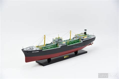 boat shop glasgow esso glasgow oil tanker handcrafted wooden model savyboat