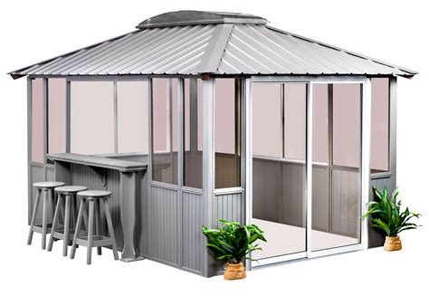 10 x 14 gazebo 10x14 coastal gray gazebo healthmate tubs