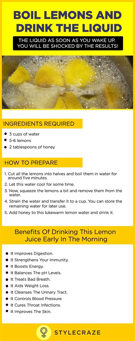 Different Types Of Detox Juices by Boil Lemons And Drink The Liquid As Soon As You Up