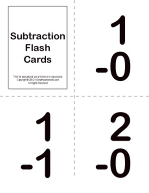 printable flashcards for subtraction kindergarten math flash cards popflyboys