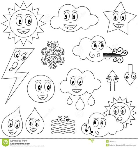 best sheets for warm weather coloring weather characters stock photos image 14322773
