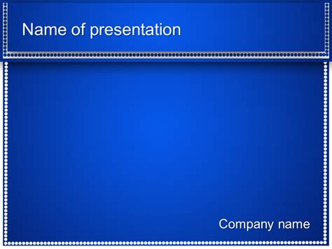 template powerpoint presentation free blue dots powerpoint template for your