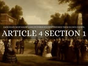 article 4 section 1 constitution class constitution by haley cassidy