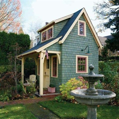 small backyard cabins cute small houses via gwen garbini home ideas