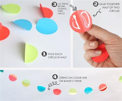 how to make a 3d circle garland especially paper