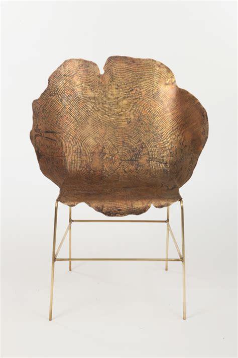 stump chair sides acid etched metal stump