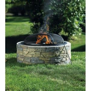 Outdoor Fireplaces And Firepits Living Accents Stacked Pit Ace Hardware