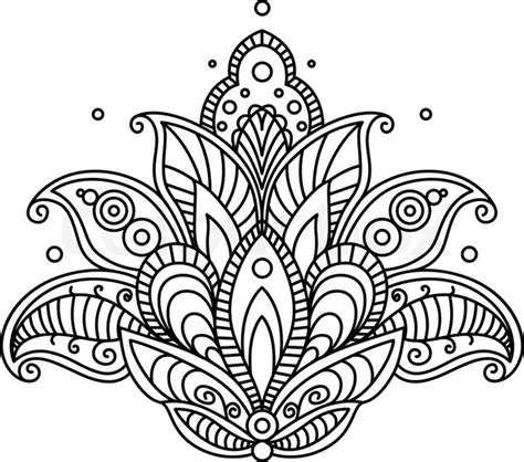flower pattern line vector 25 best ideas about paisley flower on pinterest paisley