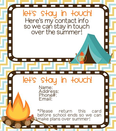 keep in touch card template let s stay in touch cards printable contributor