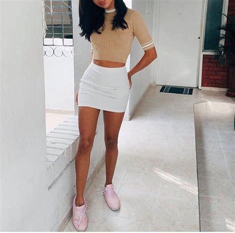 Shjt217122806445 Blouse Korea Knitted Blouse Black Khaki shoes skirt white stripes crop tops sweater