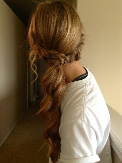 dressy ponytail hairstyles homecoming prom ponytail hair pinterest