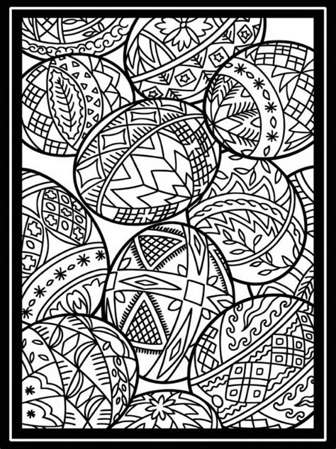 easter egg coloring page for adults 59 best advanced coloring easter images on pinterest