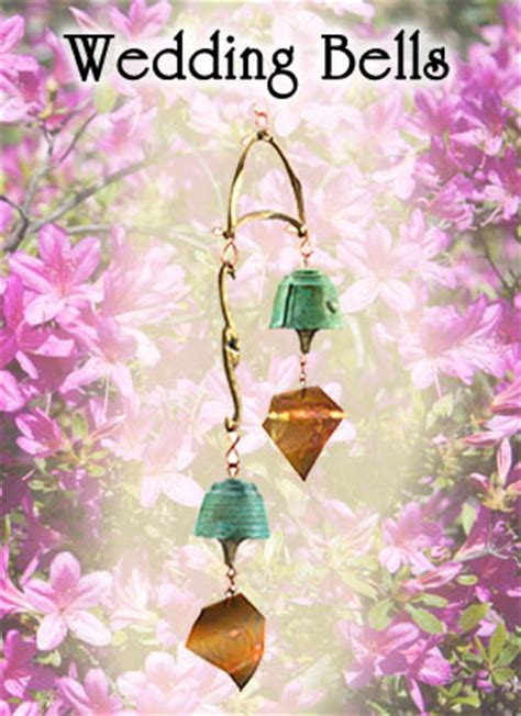 Wedding Bells Wind Chimes by Harmony Hollow Bells Wedding Bells Bronze Wind Bells