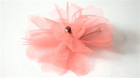flores de tul c 243 mo hacer una flor de tul handbox craft lovers