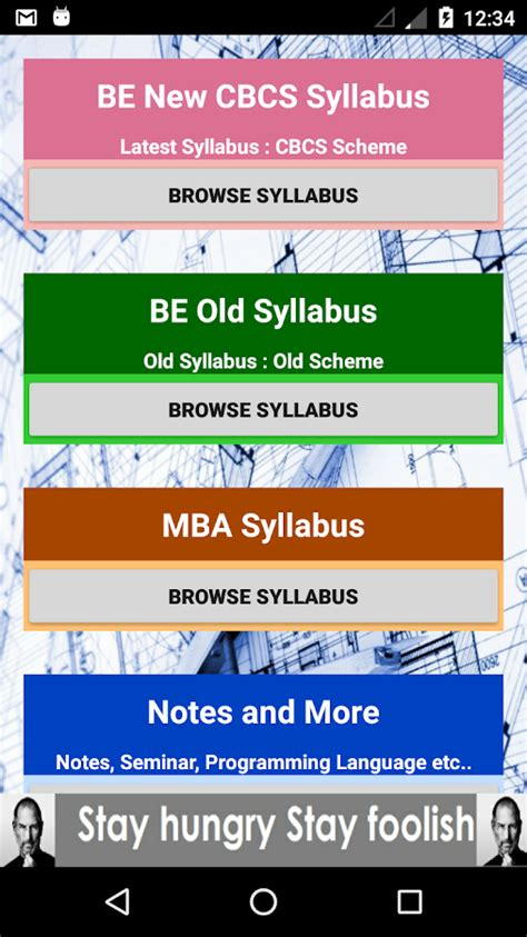 Vtu Mba Cbcs Syllabus 2017 by Vtu Syllabus Android Apps On Play