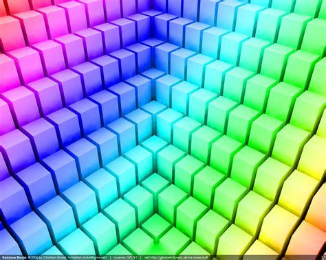 Rainbow Wall Mural rainbow blocks wallpaper