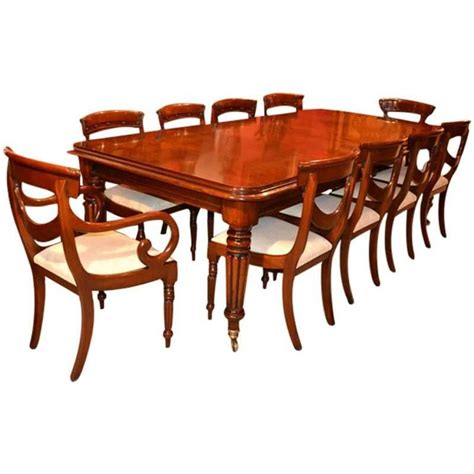 Regency Style Dining Table And Chairs Regency Style Dining Table And Ten Swag Back Chairs For Sale At 1stdibs