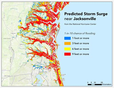 hurricane map florida where will hurricane matthew cause the worst flooding