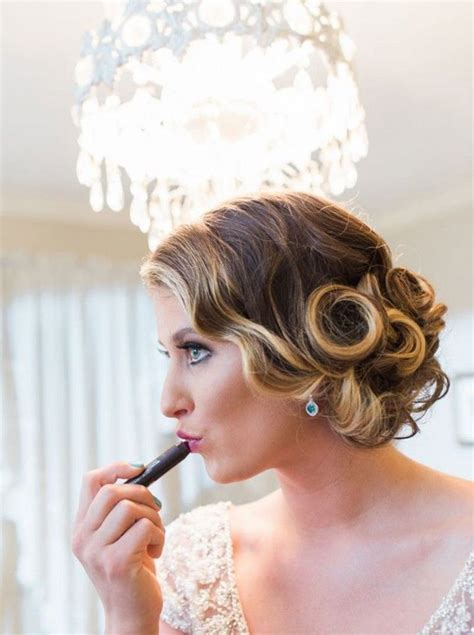 vintage pin curls for nostalgic brides pin curl updo
