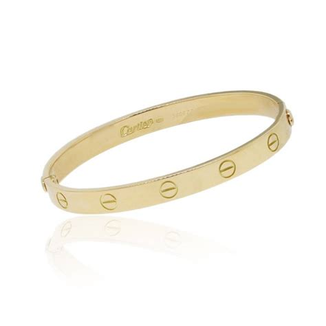 Cartier 18k Yellow Gold Size 17 LOVE Bangle Bracelet
