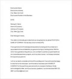 Sle Of Resignation Letter One Month Notice by Resignation Notice Template 17 Free Sles Exles Format Free Premium