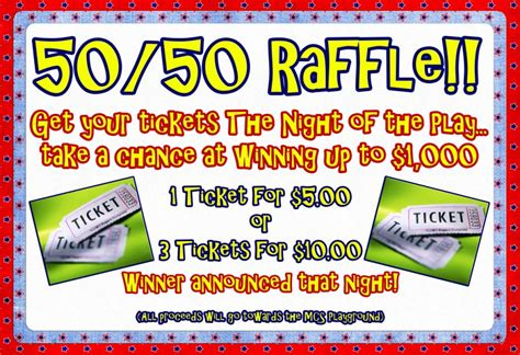 50 50 raffle ticket template 50 50 raffle sign pictures to pin on pinsdaddy