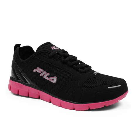 fila womens shoes fila s memory deluxe running shoe black pink