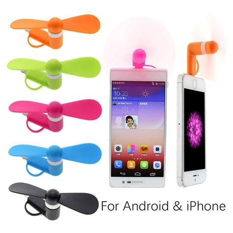 iphone fan in 2 in 1 multicolor portable travel mini usb fan for iphone