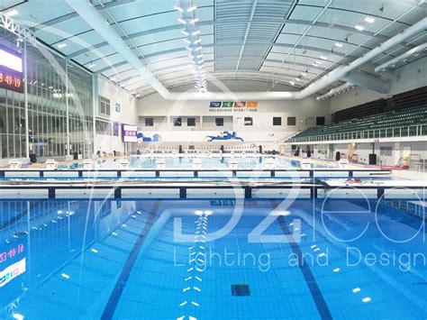 indoor pool lighting fixtures pool lighting msac indoor competition pool upgrade