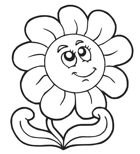coloring pages of flowers for preschool free printable flower coloring pages free printable