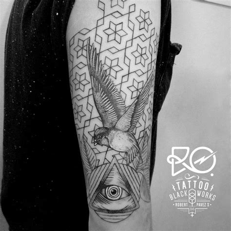 tattoo geometric melbourne dotwork tattoo bird google search tatoo pinterest