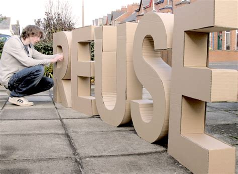 How To Make Large Paper Mache Letters - 3d cardboard letters chris dunlop