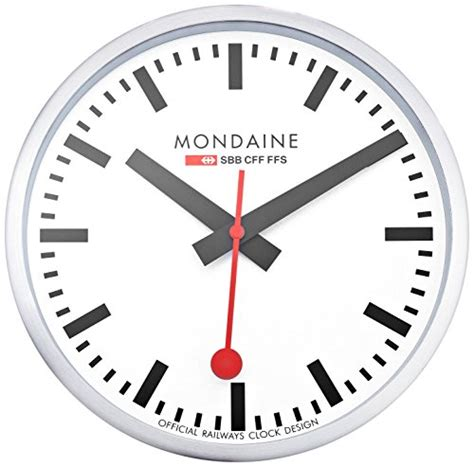 mondaine wall clock mondaine a990 clock 16sbb wall clock white dial home decor