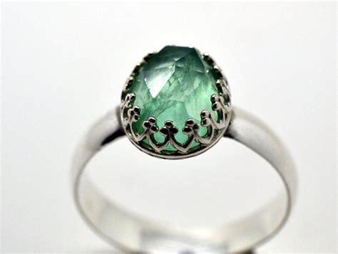 Handmade Artisan Engagement Rings - fluorite ring handmade cocktail ring artisan by fifthheaven