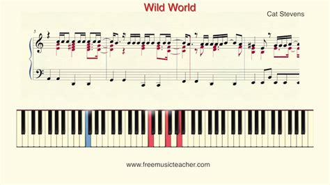 tutorial piano young wild and free how to play piano cat stevens quot wild world quot piano tutorial