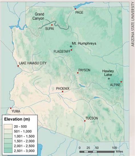 arizona elevation map weatherwise magazine march april 2015