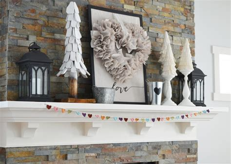 Decorate Your Own Home Our Neutral Valentine S Day Mantel Decor The Diy Mommy